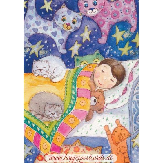 Dreams about Cats - Postcard