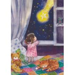 Falling Star - Postcard