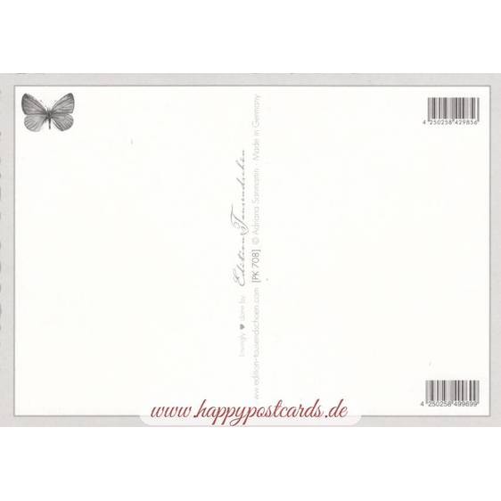 Elephant and Zebra - Tausendschön - Postcard