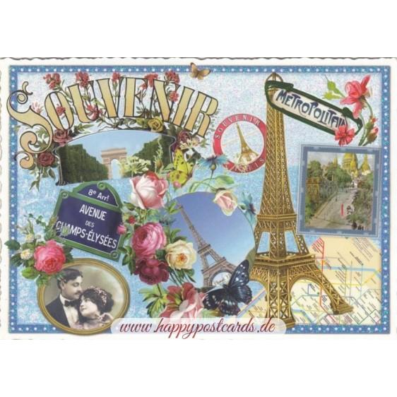 Paris - Souvenir Eiffel Tower - Tausendschön Postcard