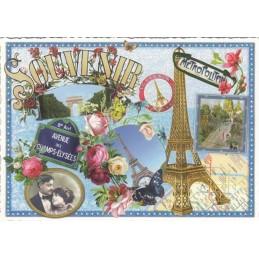 Paris - Souvenir Eiffelturm - Tausendschön Postkarte