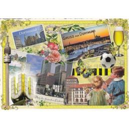 Gruß aus Dortmund - Tausendschön - Postkarte