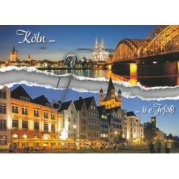 Köln is e Jeföhl - Ansichtskarte