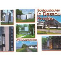Bauhausbauten in Dessau-Roßlau - Viewcard