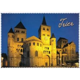 Trier Dom Briefmarkenrand - Ansichtskarte