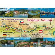 Danube - Map - Viewcard