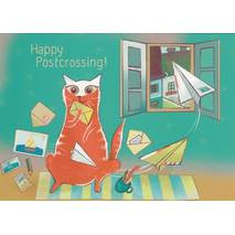 Happy Postcrossing - Luftpost - Postkarte