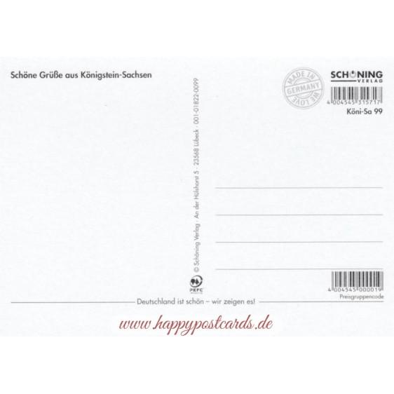 Festung Königstein - Chronikkarte