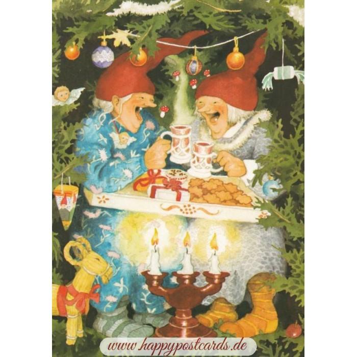 Christmas Postcards.65 Old Ladies Celebrating Christmas Postcard