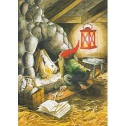 226 - Zwerg macht Kamin an - Löök Postkarte