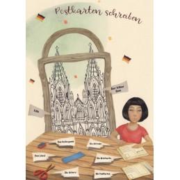 Sprachen der Welt - Deutsch - Köln - Postkarte