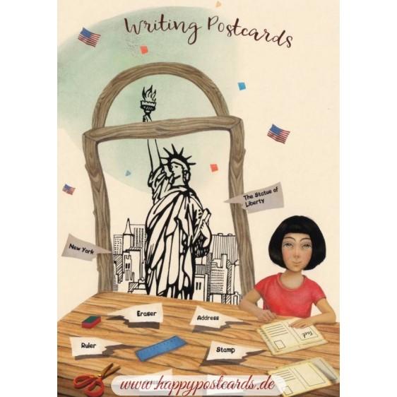 Languages of the world - Engish - New York - Postcard