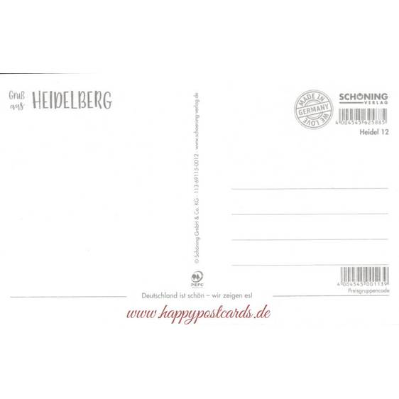 Greetings from Heidelberg - HotSpot-Card