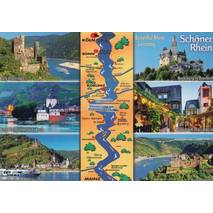 Beautiful Rhine - map