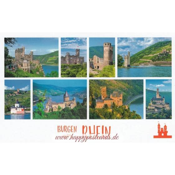 Castles along the Rhine - HotSpot-Card