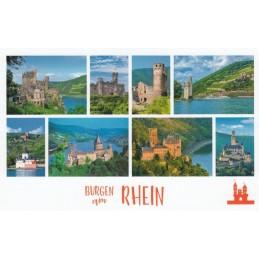 Castles along the Rhine - HotSpot-Card