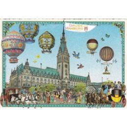 Hamburg - Town Hall - Tausendschön - Postcard