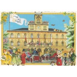 Weimar - Rathaus - Tausendschön - Postkarte