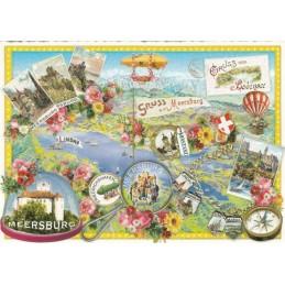 Bodensee - Meersburg - Tausendschön - Postcard