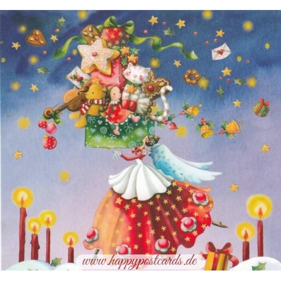 Engel mit Geschenken - Nina Chen Postkarte
