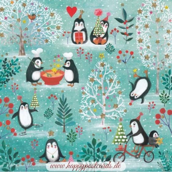 Penguins - Mila Marquis Postcard