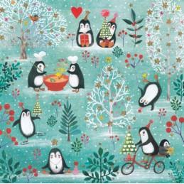 Pinguine - Mila Marquis Postkarte