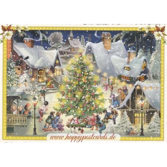 Christmas in Town - Tausendschön - Postcard
