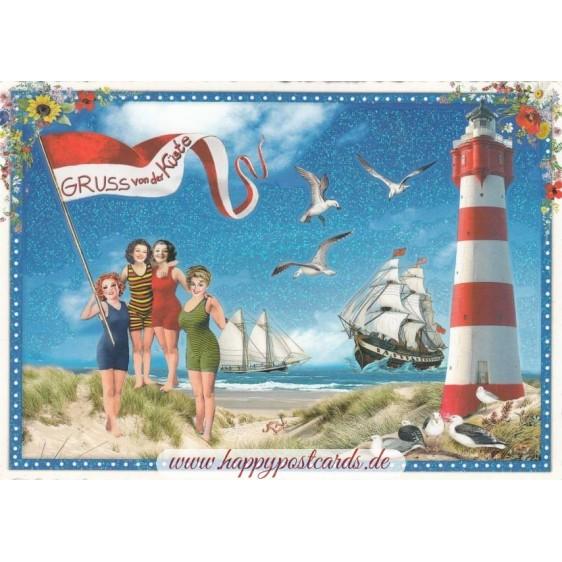 Gruss von der Kueste - Tausendschön - Postcard