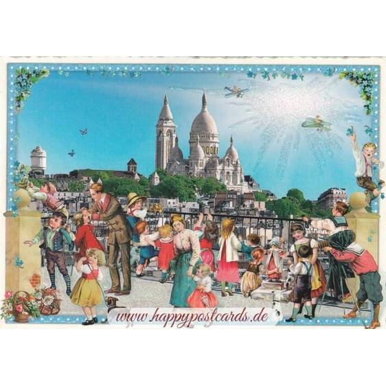 Paris - View to Sacré Coeur - Tausendschön - Postcard