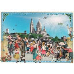 Paris - View to Sacré Coeur - Tausendschön - Postcard