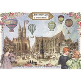 Braunschweig - Altstadtmarkt - Tausendschön - Postkarte