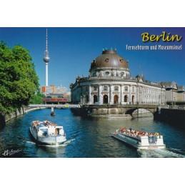 Berlin - TV Tower and Museum Island - Viewcard