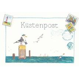 Küstenpost - de Waard Postkarte