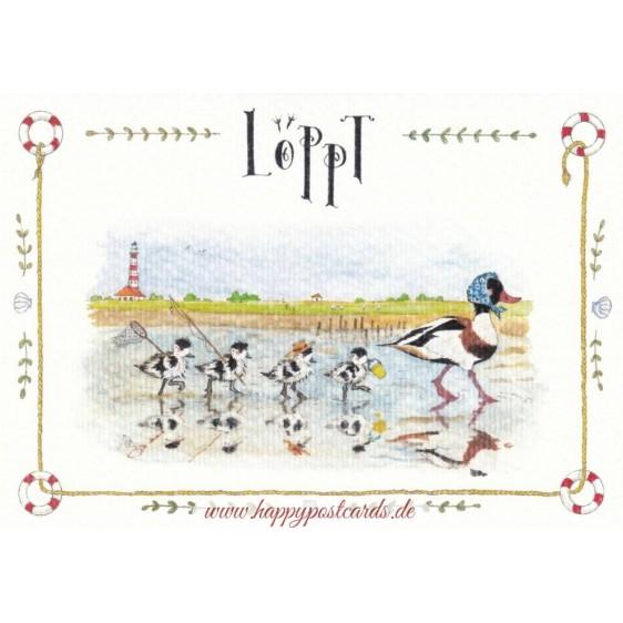 Löppt - de Waard postcard