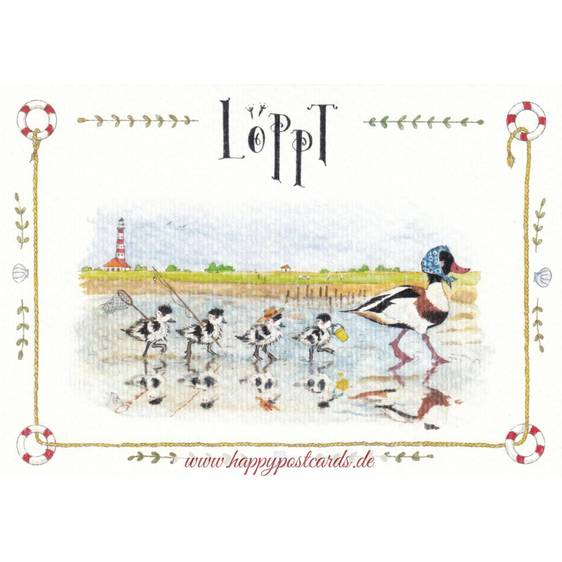 Löppt - de Waard Postkarte