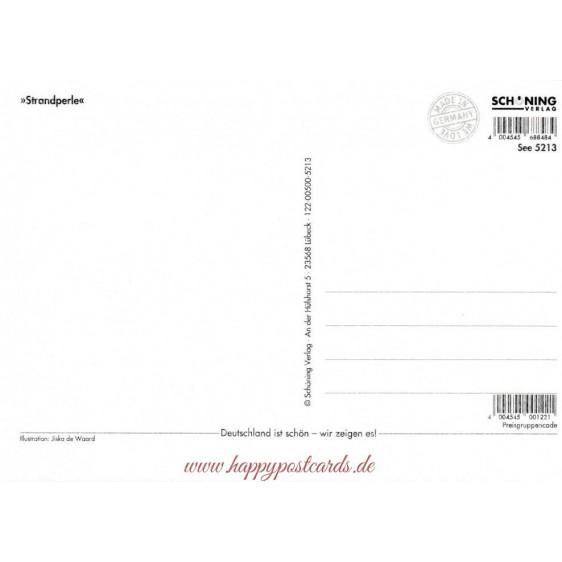 Strandperle - de Waard postcard