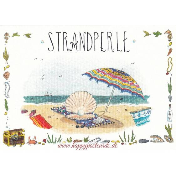 Strandperle - de Waard Postkarte