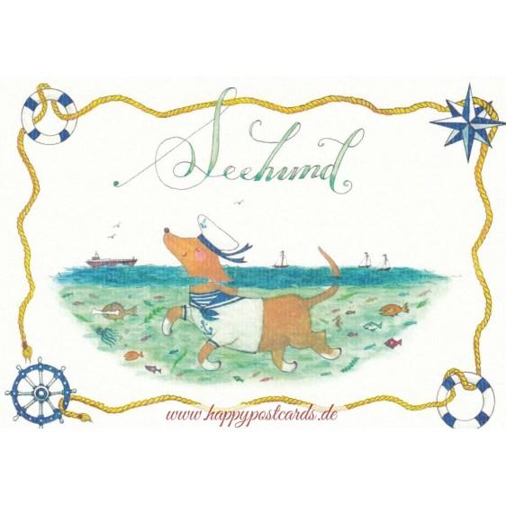 Seehund - de Waard postcard