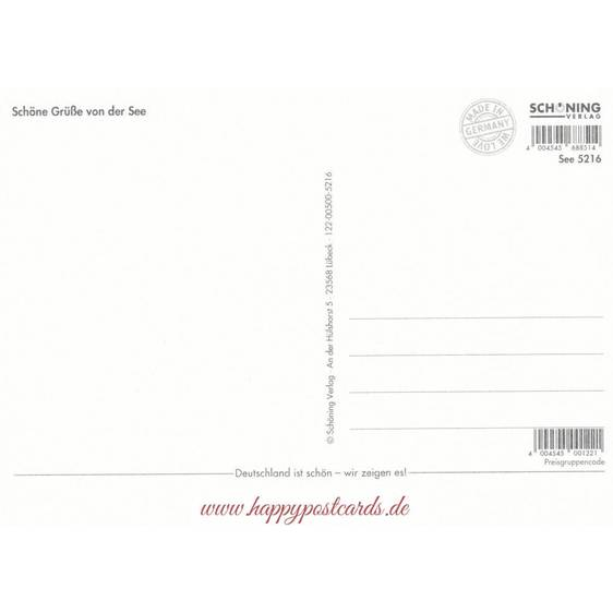 Freischwimmer - de Waard Postkarte