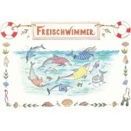 Freischwimmer - de Waard postcard