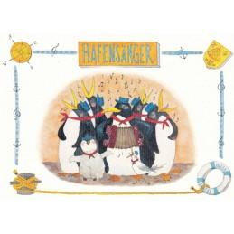Hafensänger - de Waard Postkarte