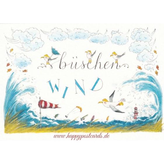 Büschen Wind - de Waard Postkarte