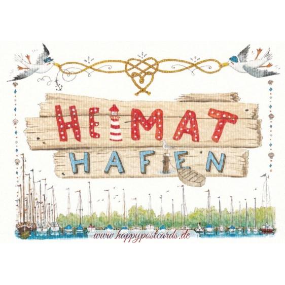 Heimathafen - de Waard Postkarte