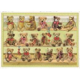 Teddys - Tausendschön - Postkarte