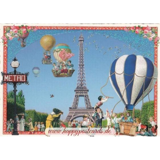 Paris - Eiffel Tower 2 - Tausendschön Postcard