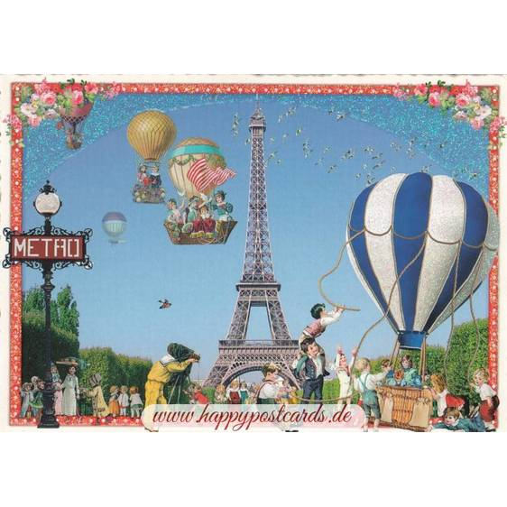 Paris - Eiffelturm 2 - Tausendschön - Postkarte