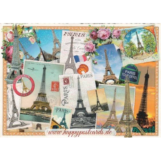 Paris - Viele Eiffeltürme - Tausendschön - Postkarte