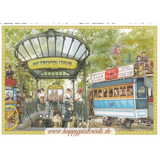 Paris - Metro - Tausendschön Postcard