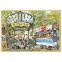 Paris - Metro - Tausendschön - Postkarte