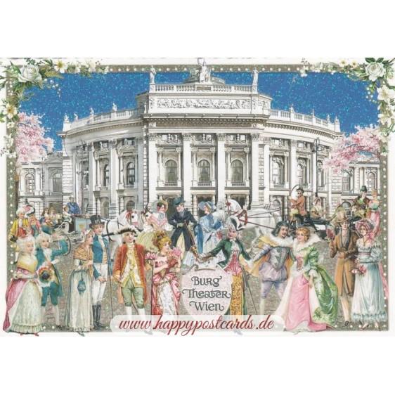 Vienna - Burg Theater - Tausendschön - Postcard